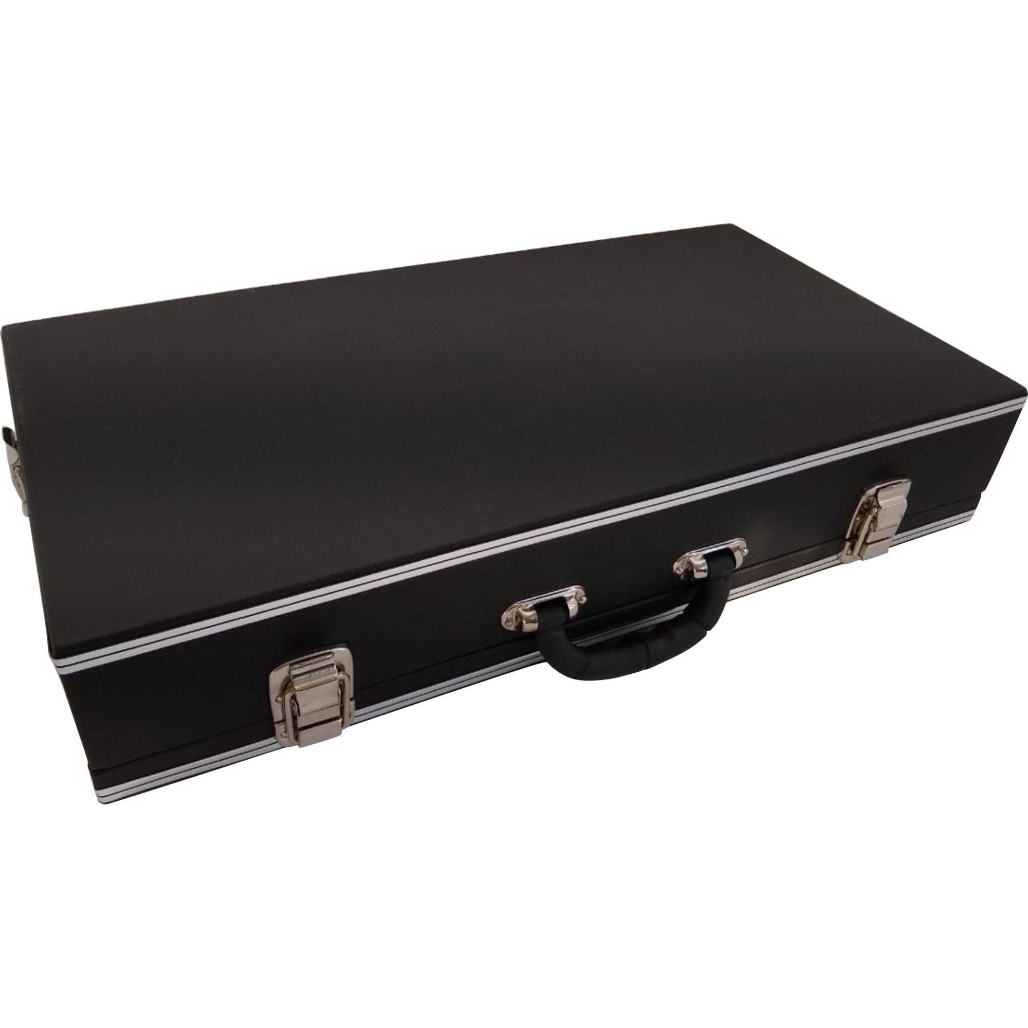 Case Para Pedais Pedaleira Zoom Boss Preta 70x40x10cm