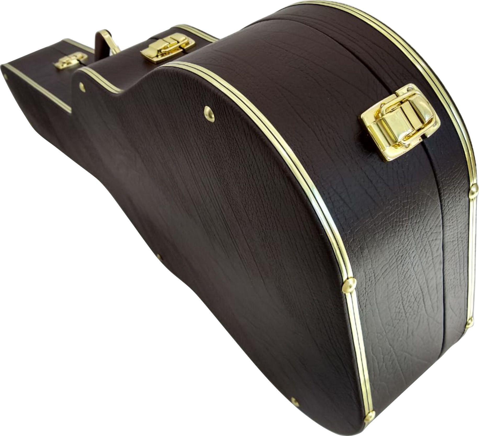 Case Para Violão Classico Extra Luxo Pelucia Caramelo