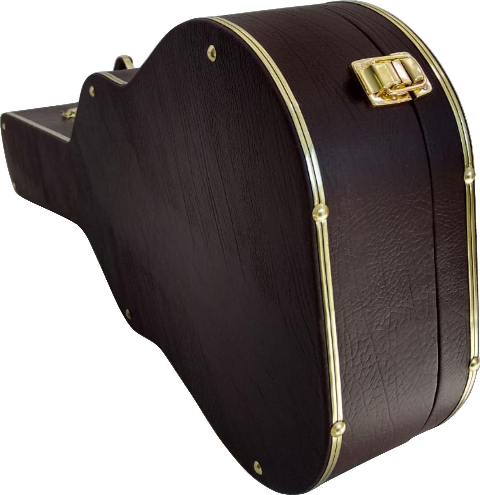 Case Para Violão Folk Extra Luxo Pelucia Caramelo