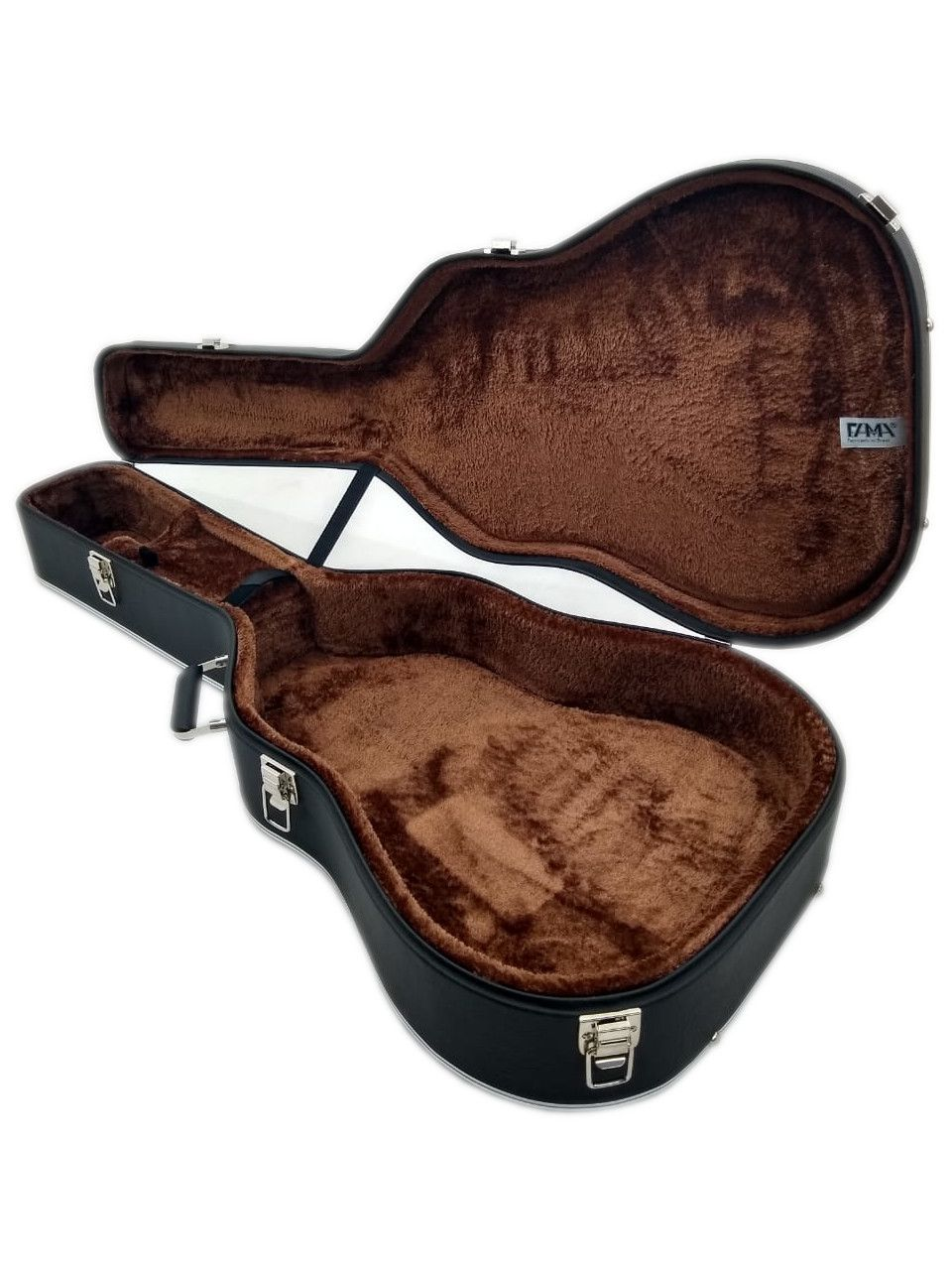 Case Para Violão Folk Luxo Pelúcia Marrom