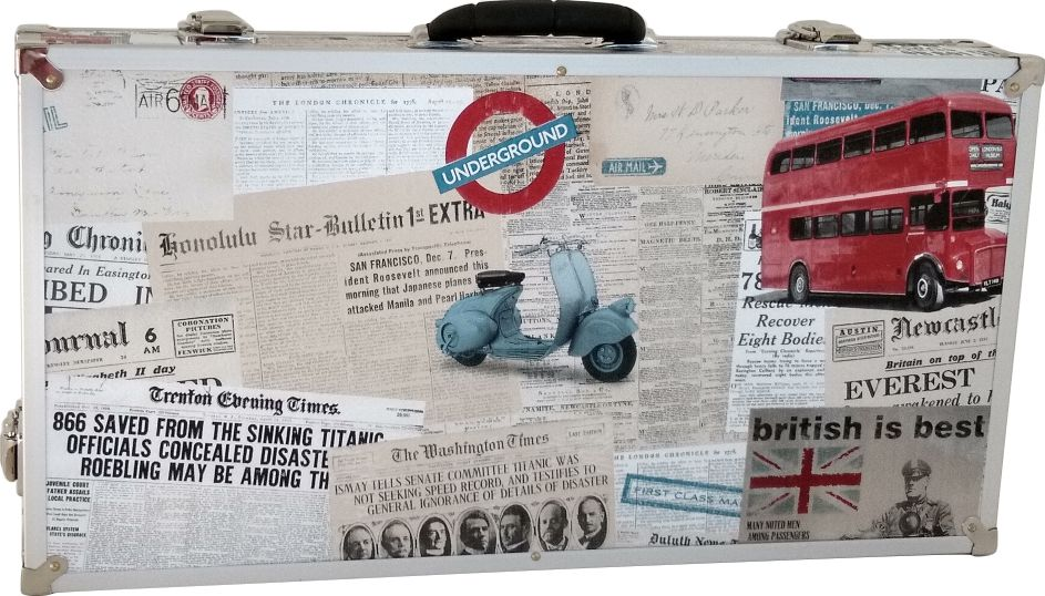 Case Pedais 63x33x10cm Tema London