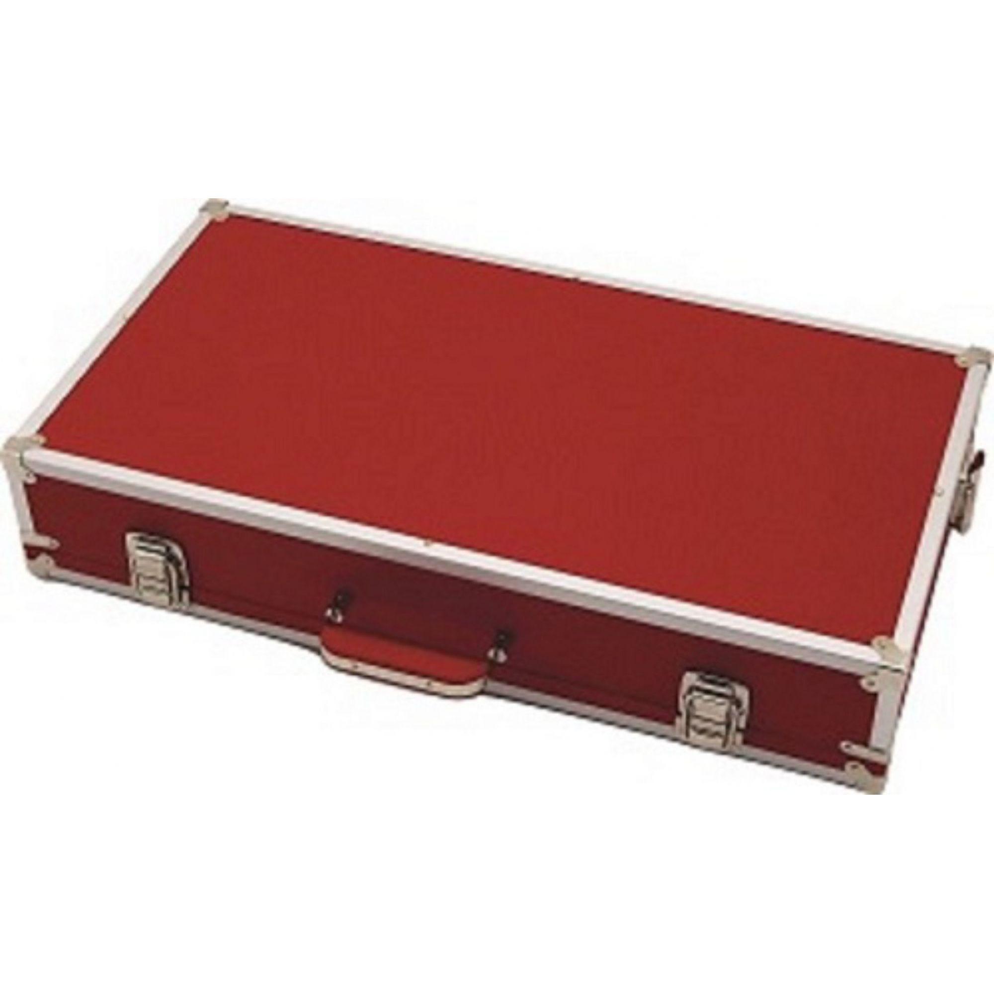 Case Pedais Pedaleira Boss Line6 Gt10 Zoom Vermelho Fama