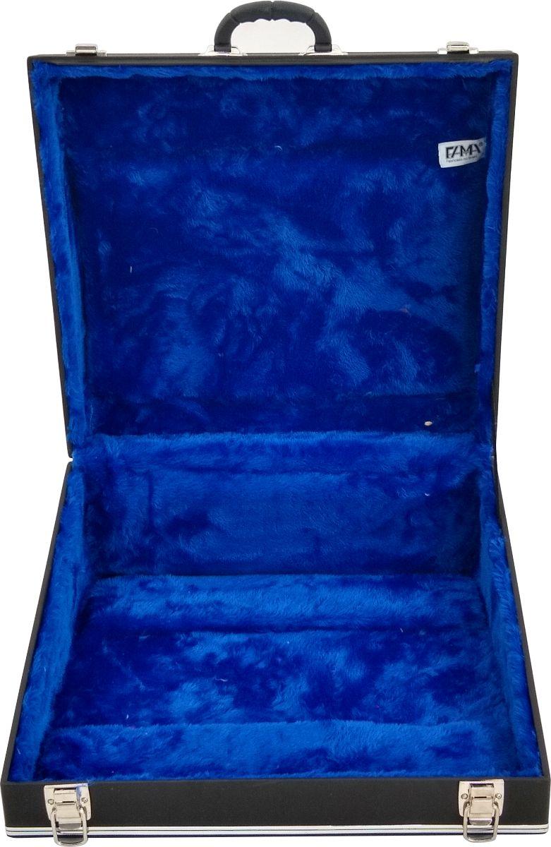 Case Térmico Para Acordeon 80 Baixos Luxo Pelucia Azul