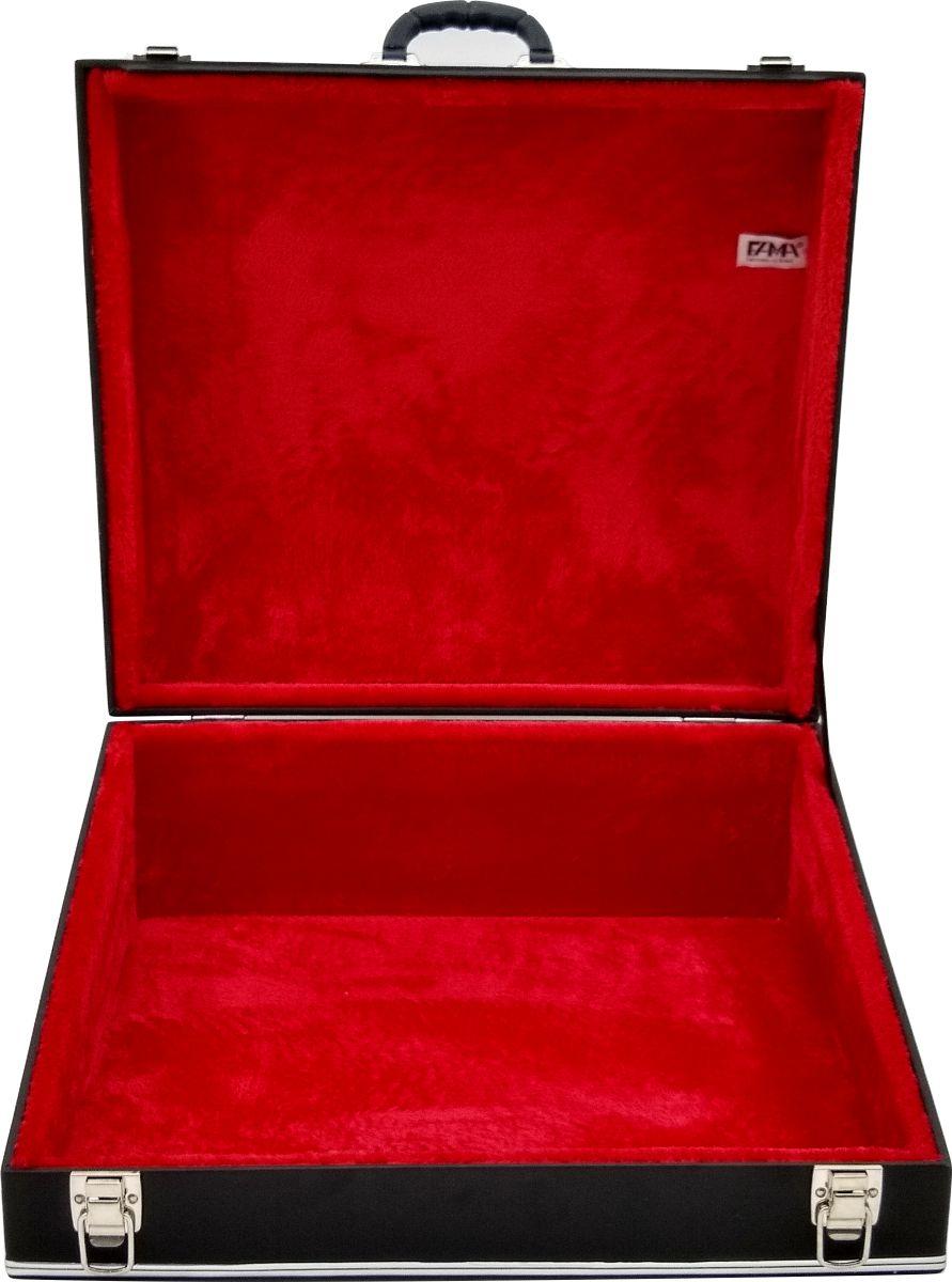 Case Térmico Para Acordeon 80 Baixos Luxo Pelucia Vermelha
