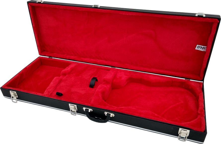 Case Térmico Para Guitarra Com Molde Strato Pelúcia Vermelha
