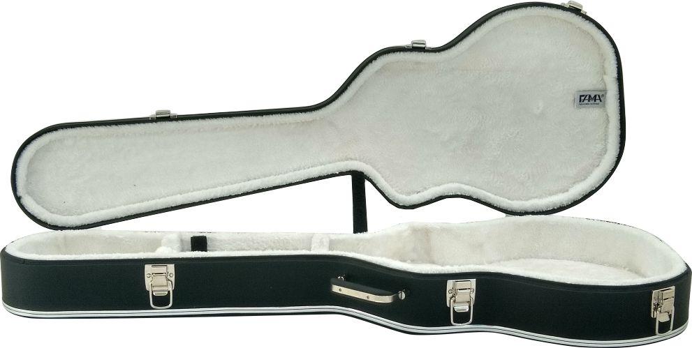 Case Térmico para Guitarra Les Paul Luxo Logo Gibson USA Pelúcia Branca