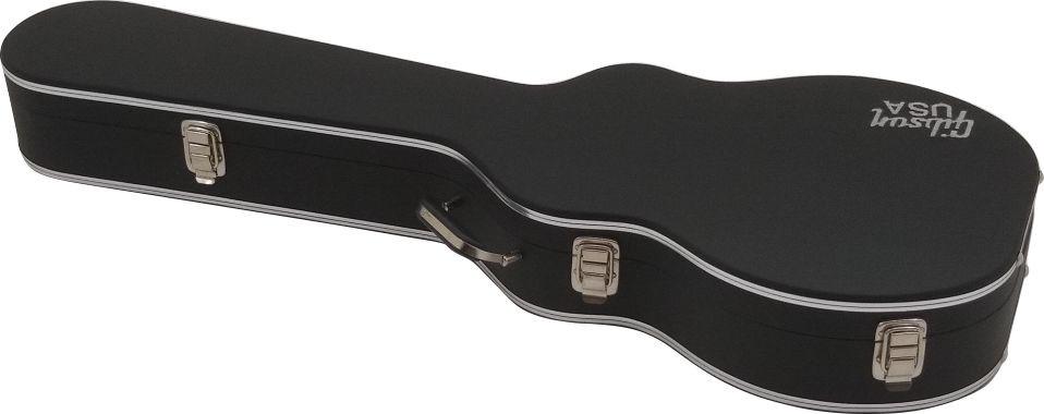 Case Térmico para Guitarra Les Paul Luxo Logo Gibson USA Pelúcia Preta