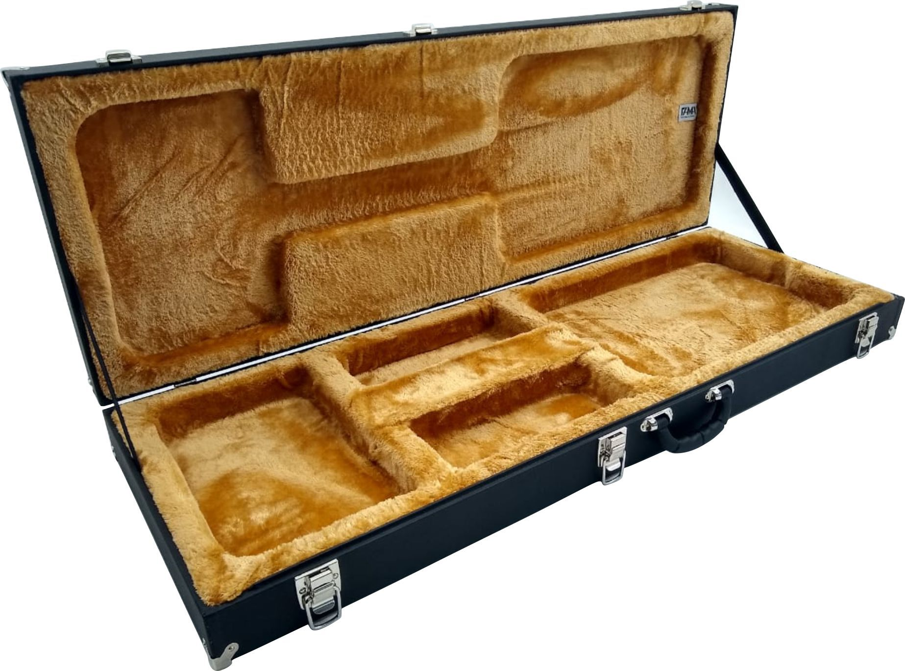 Estojo Case Guitarra Strato Fender Ibanez Les Paul Pelúcia Caramelo