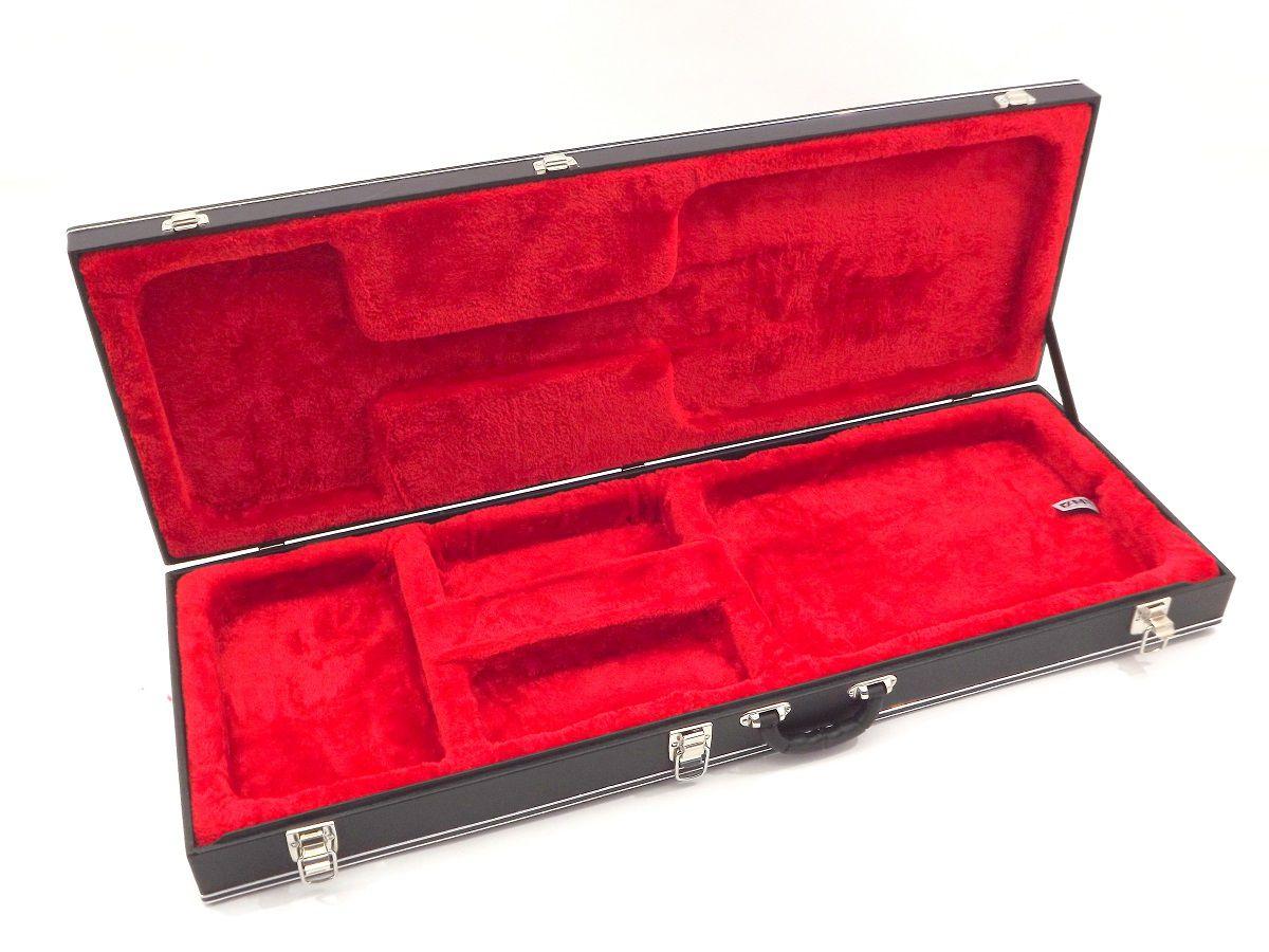 Estojo Case Guitarra Strato fender ibanez Pelúcia Vermelha