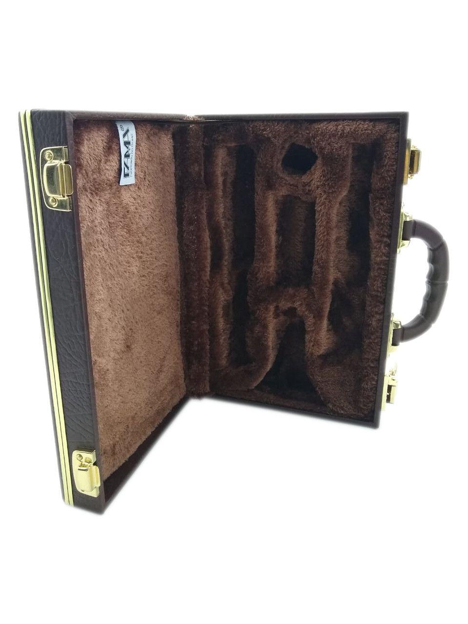 Estojo Case Para Clarinete Desmontada Luxo Marrom Fama