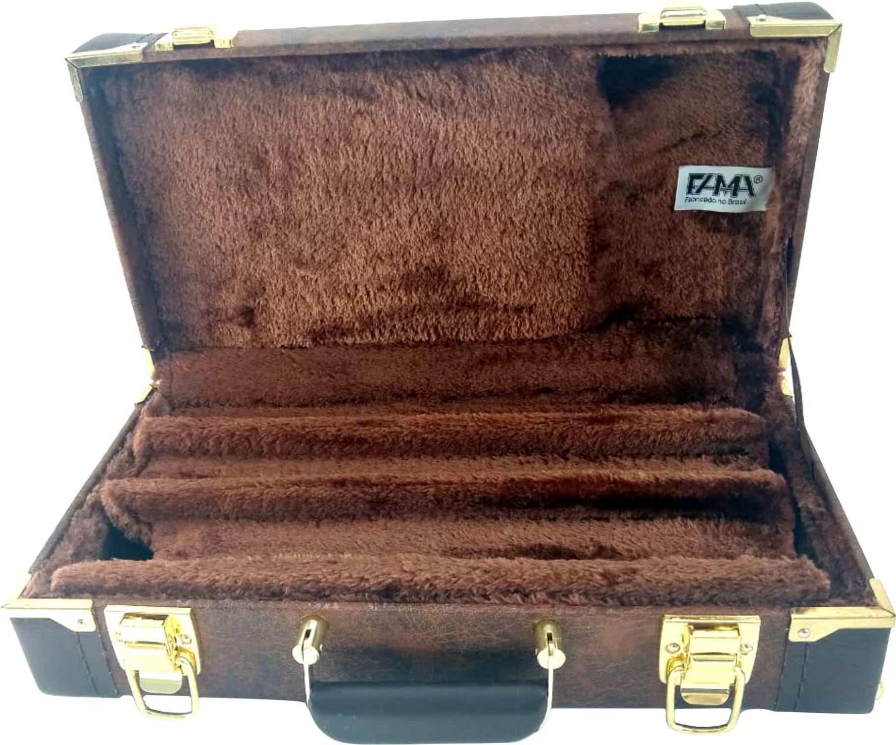Estojo Case Para Clarineta Fundo Falso Jasper Escuro