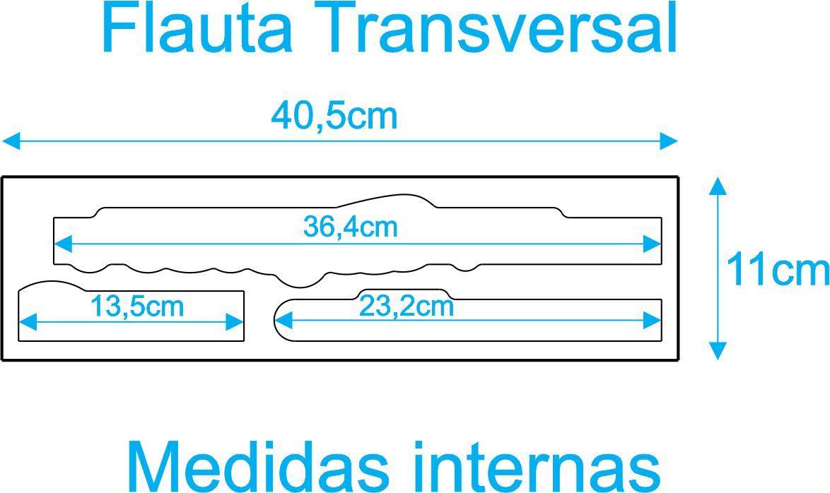 Estojo Case Para Flauta Transversal Luxo