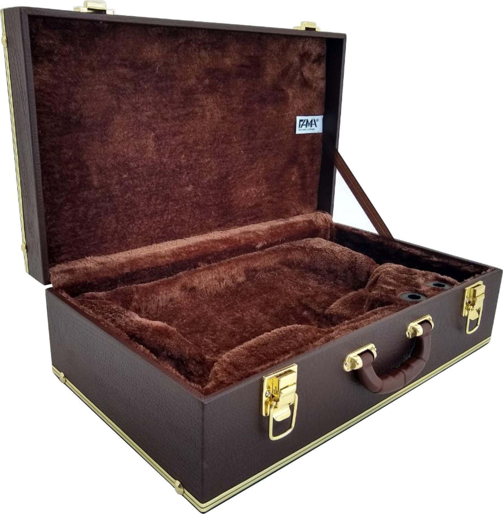 Estojo Case Para Flugelhorn Luxo Marrom