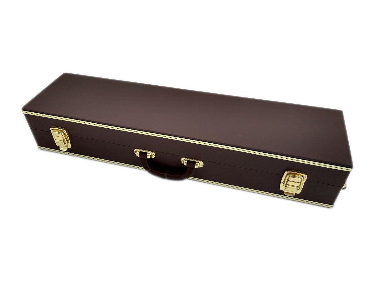 Estojo Case Para Sax Soprano Reto Luxo Marrom