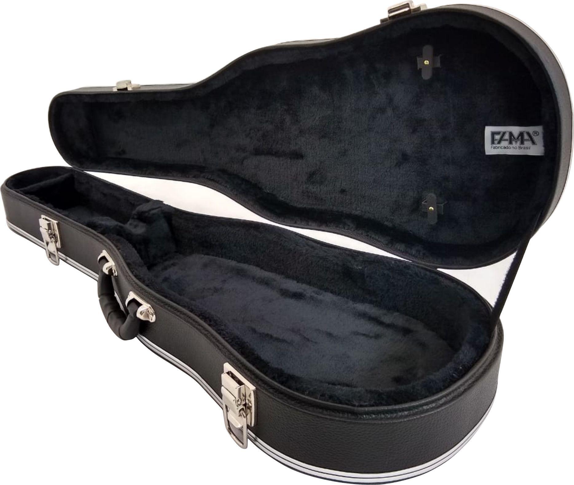 Estojo Case Para Violino 4/4 Luxo Fama Couro Sintético