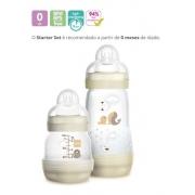 2 Mamadeira Mam Barata Bebê Easy Start Neutro 4695