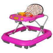 Andador Infantil Tutti Baby Safari Musical Rosa