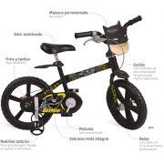 Bicicleta 14 Batman Aro 14 Bandeirante