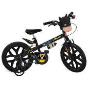 Bicicleta Aro 16 Bandeirante Batman Com Mascara  - Preta