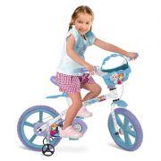 Bicicleta Infantil Frozen Disney Aro 14 Cestinha - Bandeirante