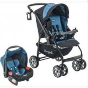 Carrinho de bebê Burigotto AT6 K 4015PR06 + Touring Evolution Se preto e azul para
