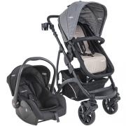 Carrinho de Bebê Explorer Lenox Cappuccino + Bebê conforto casulo click 415 E - Kiddo