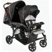 Carrinho de Bebê Gêmeos Denver Preto - Galzerano