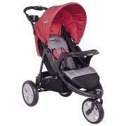 Carrinho de Bebê Kiddo Fox Cinza e Vermelho