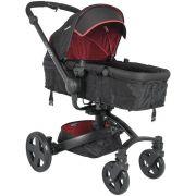 Carrinho de Bebê Moisés Kiddo Spin 360º - Preto/Vermelho