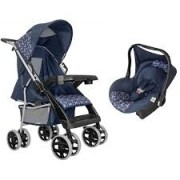 Carrinho de Bebe Thor Azul New com Bebe Conforto Tutti Baby
