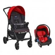 Carrinho de Bebê Travel System Burigotto Ecco Vermelho