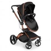 CarrinhoTravel System Dzieco Vulkan Multi Posições Preto e Cobre + Bebê conforto