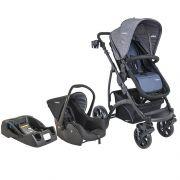 Carrinho de Bebê Travel System Kiddo Explorer Azul + Casulo Click + Base