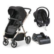 Carrinho de Bebê Travel System Maly Black Sand + Bebê Conforto + Base - Dzieco