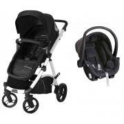 Carrinho de Bebê Travel System Maly Preto e Branco + Bebê Conforto - Dzieco