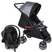 Carrinho Travel System Galzerano Maranello II - Preto e Cinza + Bebê Conforto