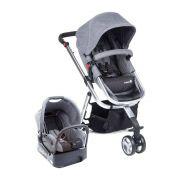 Carrinho de Bebê Travel System Mobi Gray Denin Silver