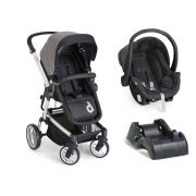 Carrinho de Bebê Travel System Zolly Preto + Bebê Conforto + Base - Dzieco