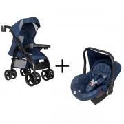 Carrinho de Bebe Upper Azul com Bebe Conforto Tutti Baby