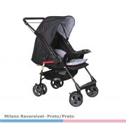 Carrinho Passeio Milano Reversível II Preto - Galzerano