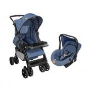 Carrinho Travel System Tutti Baby Jeans TJ Com Bebê Conforto Jeans