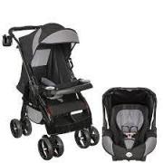 Carrinho Travel System Tutti Baby Upper - Preto Com Bebê Conforto