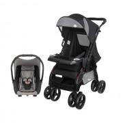 Carrinho Travel System Tutti Baby Upper - Silver US com Bebe Conforto