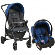 Carrinho de Bebê Travel System Burigotto Ecco + Touring X Azul