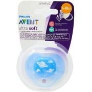 Chupeta Avent Ultra Soft Silicone Azul 6-18 Mes Tam 2