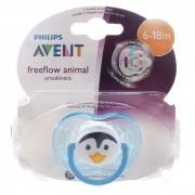 Chupeta Freeflow Animal- Philips Avent - 6 a 18 Meses PINGUIM