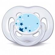 Chupeta Noturna Azul Freeflow 6-18m BPA Free  Philips Avent