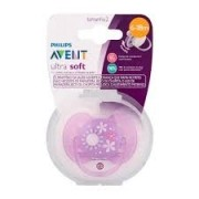 Chupeta Ultra Soft Decorada 6 a 18 meses Avent