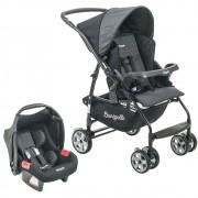 Conjunto Burigotto: Carrinho de Bebê Rio K + Bebê Conforto Touring Evolution SE - Geo Preto