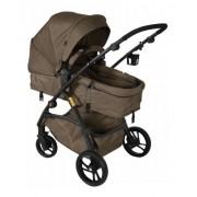 Carrinho Travel System Dzieco Maly Multi Posições – Chocolate + Bebê Conforto e Base